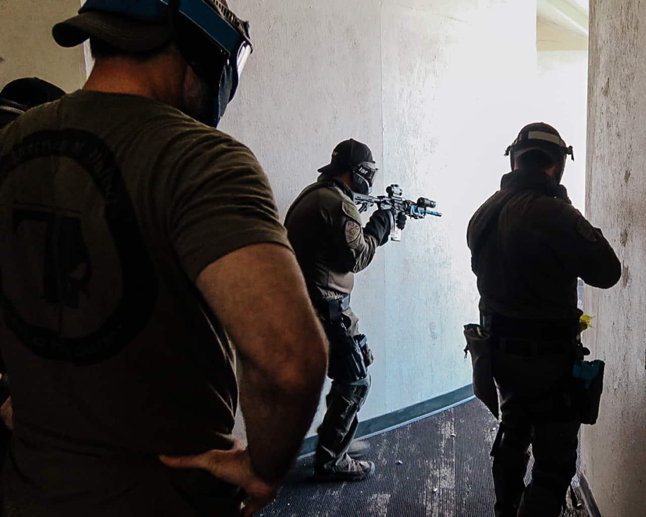 hallway movement during carbine gunfighter course