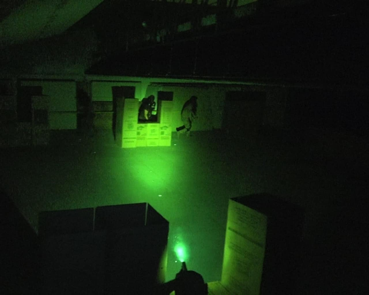 Low light force on force training with sims