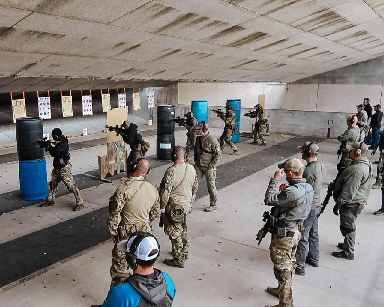 live fire drills by Rigo Durazo during the carbine gunfighter course