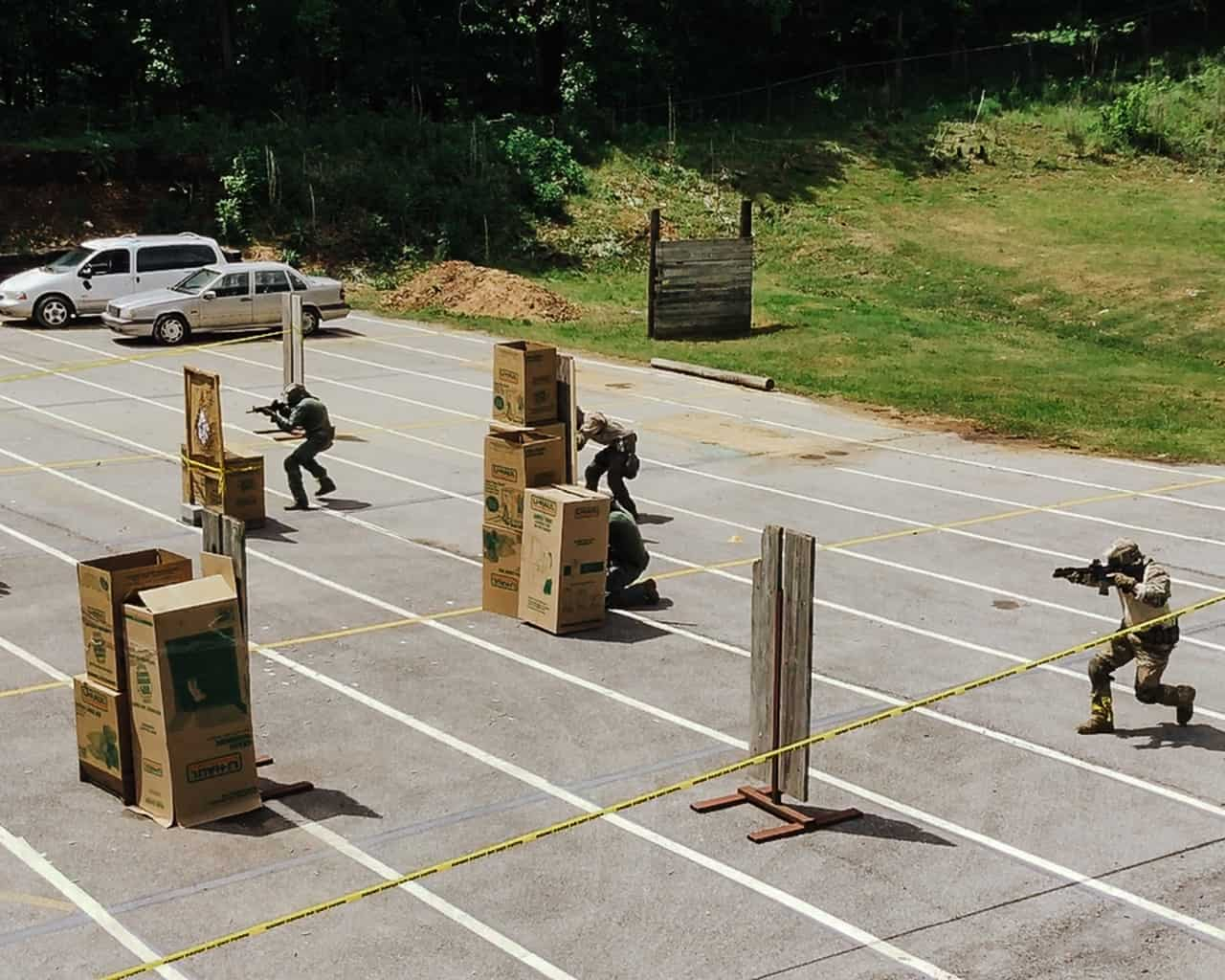 Open area movement response to active shooter with carbine