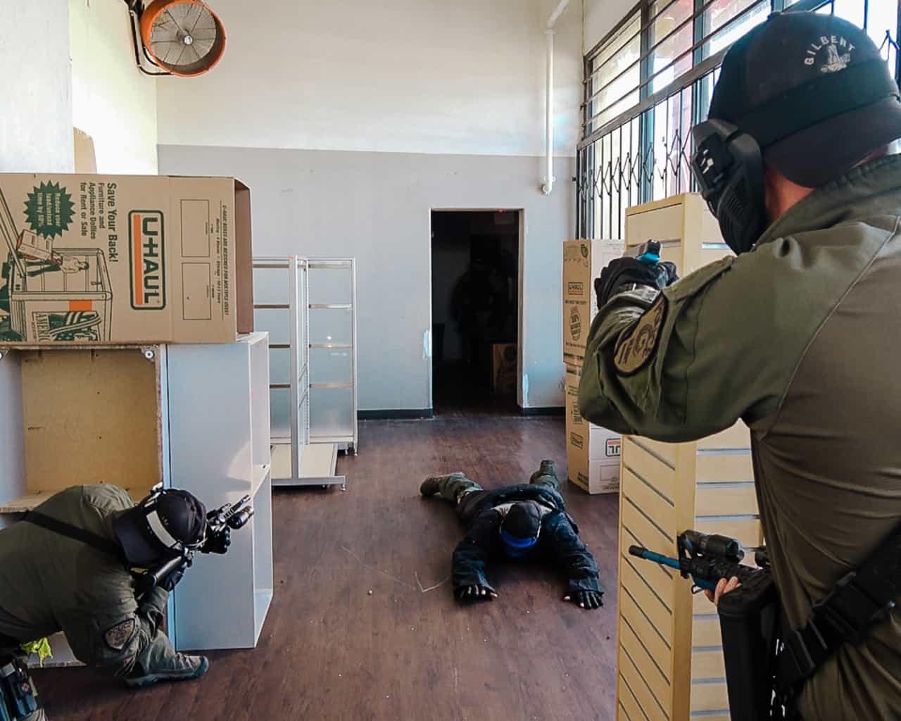 suspect controls with simunition scenarios