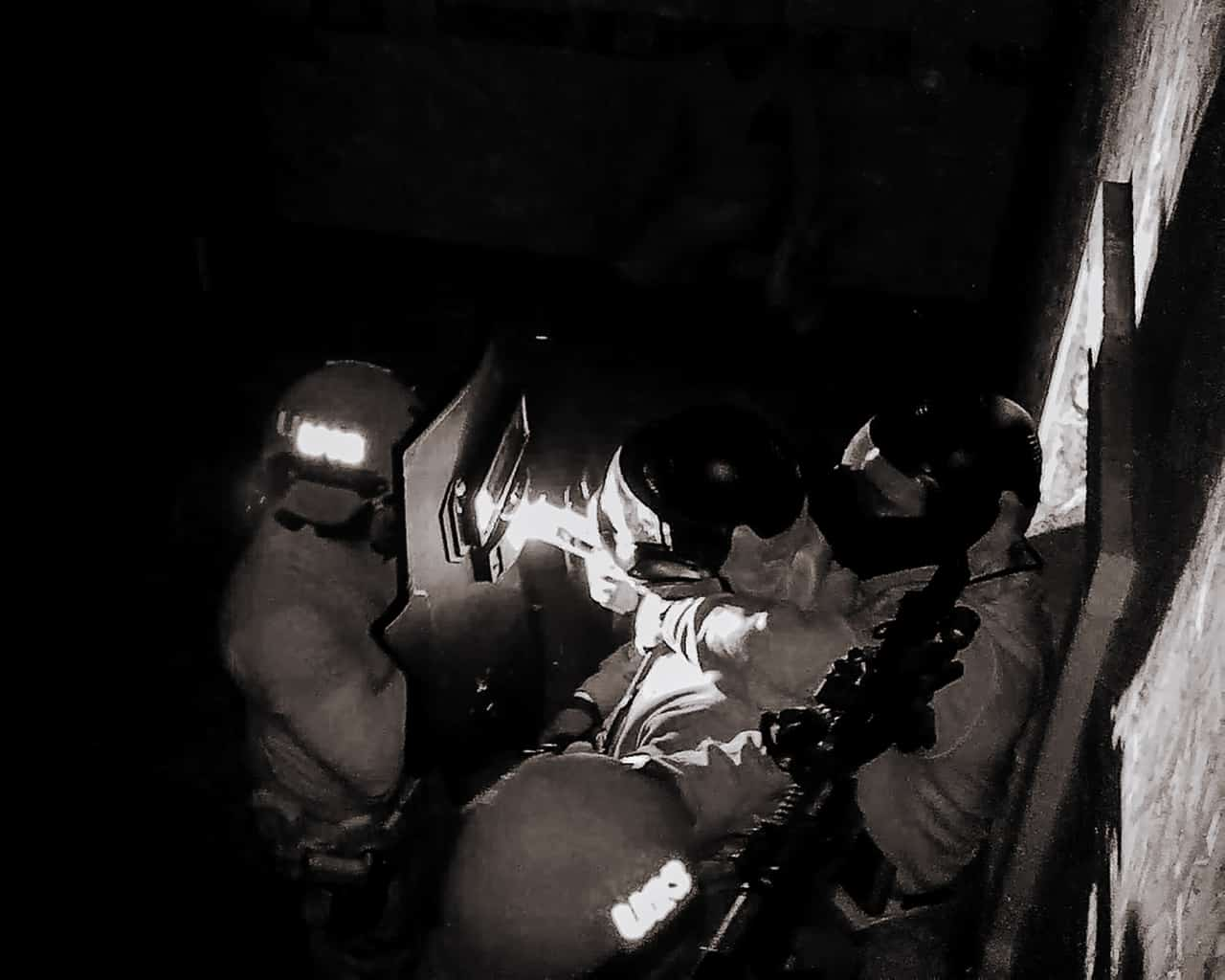 Hostage Rescue with low light entry principles