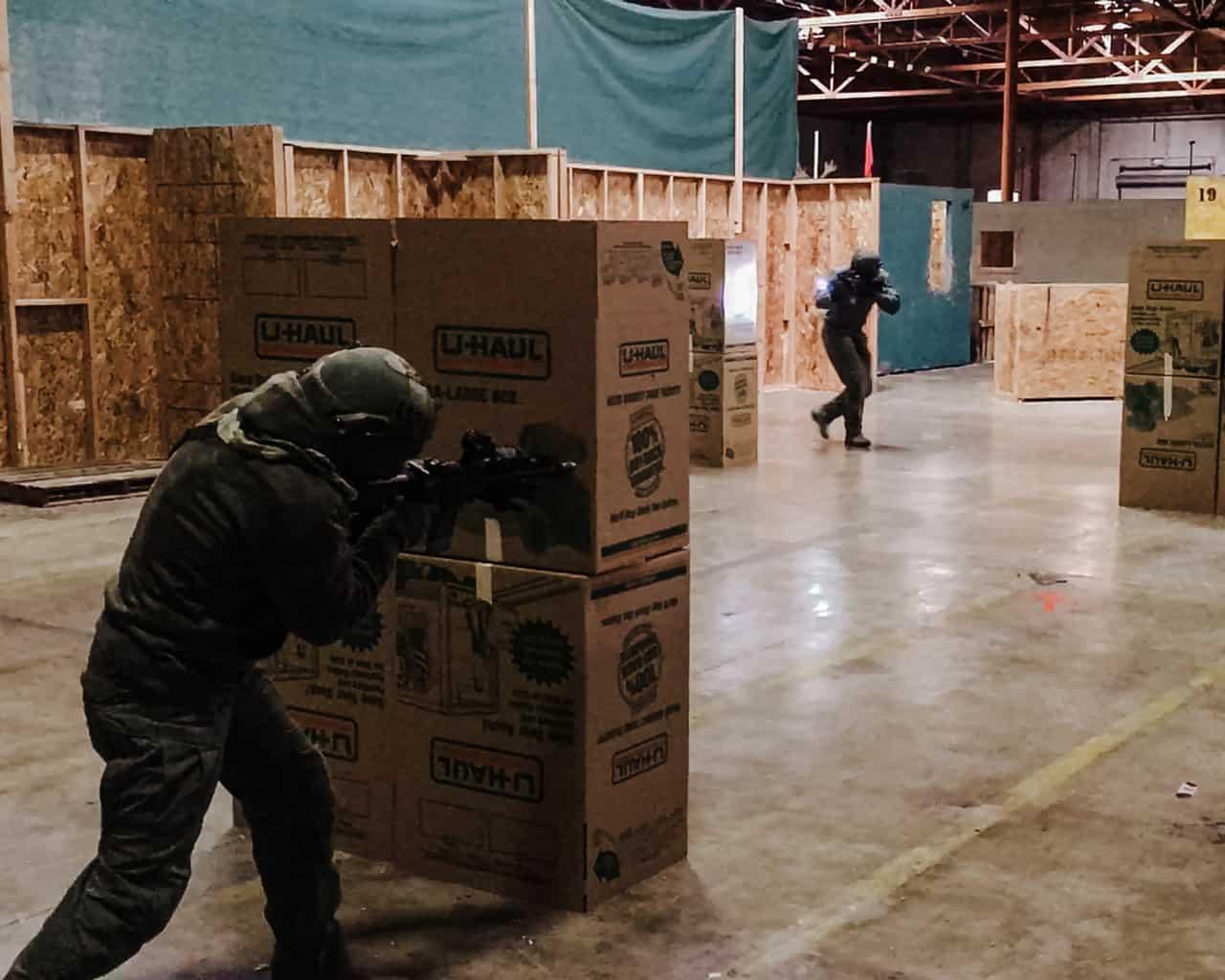 Open area gunfighting