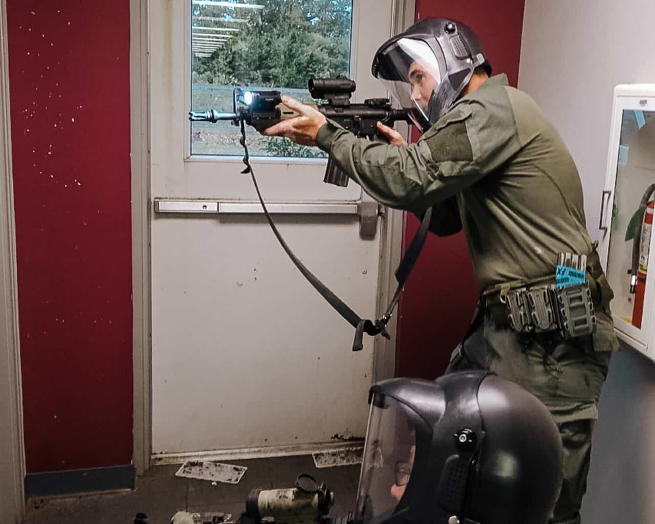 active shooter response with force on force