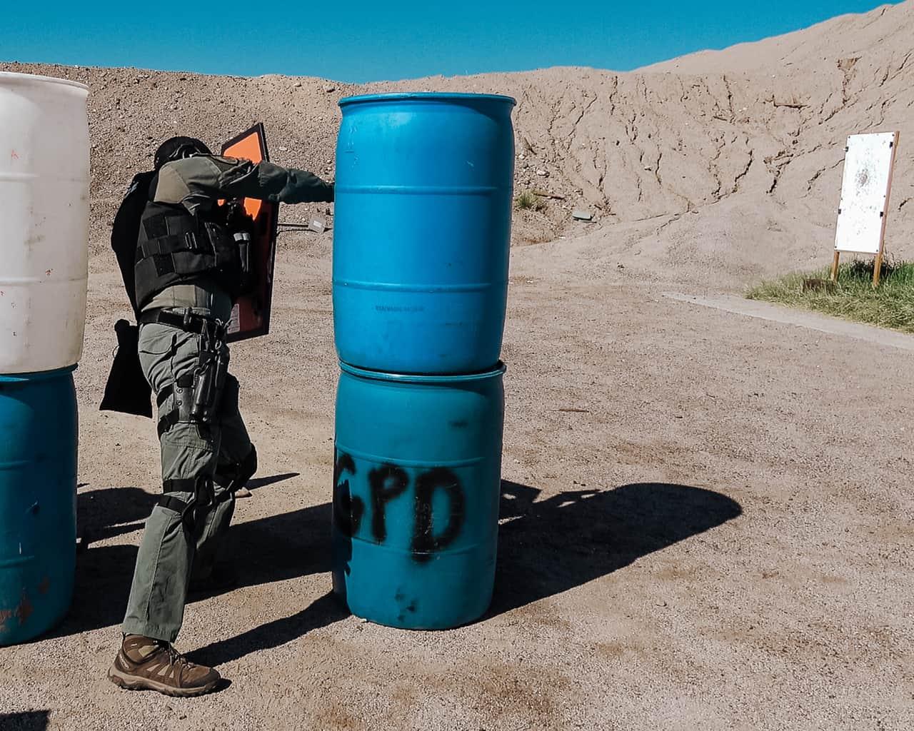 shootin around barriers with shiield
