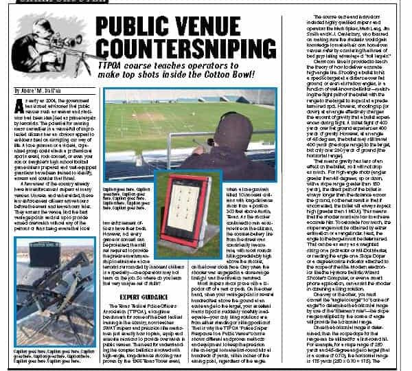 Public Venue Countersniping article from guns & weapons for law enforcement