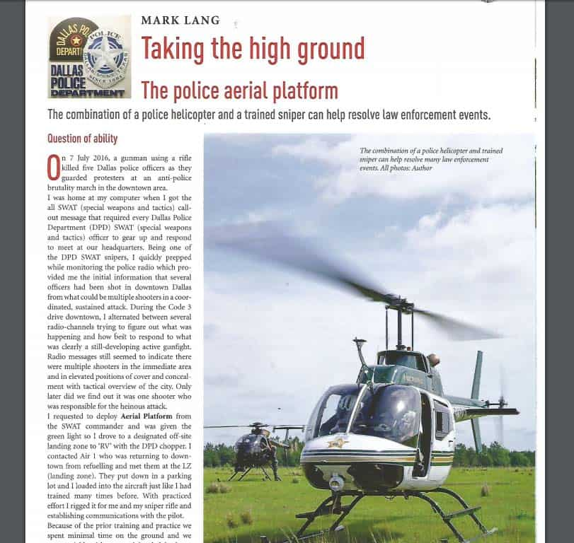 safety & security international police aerial platform