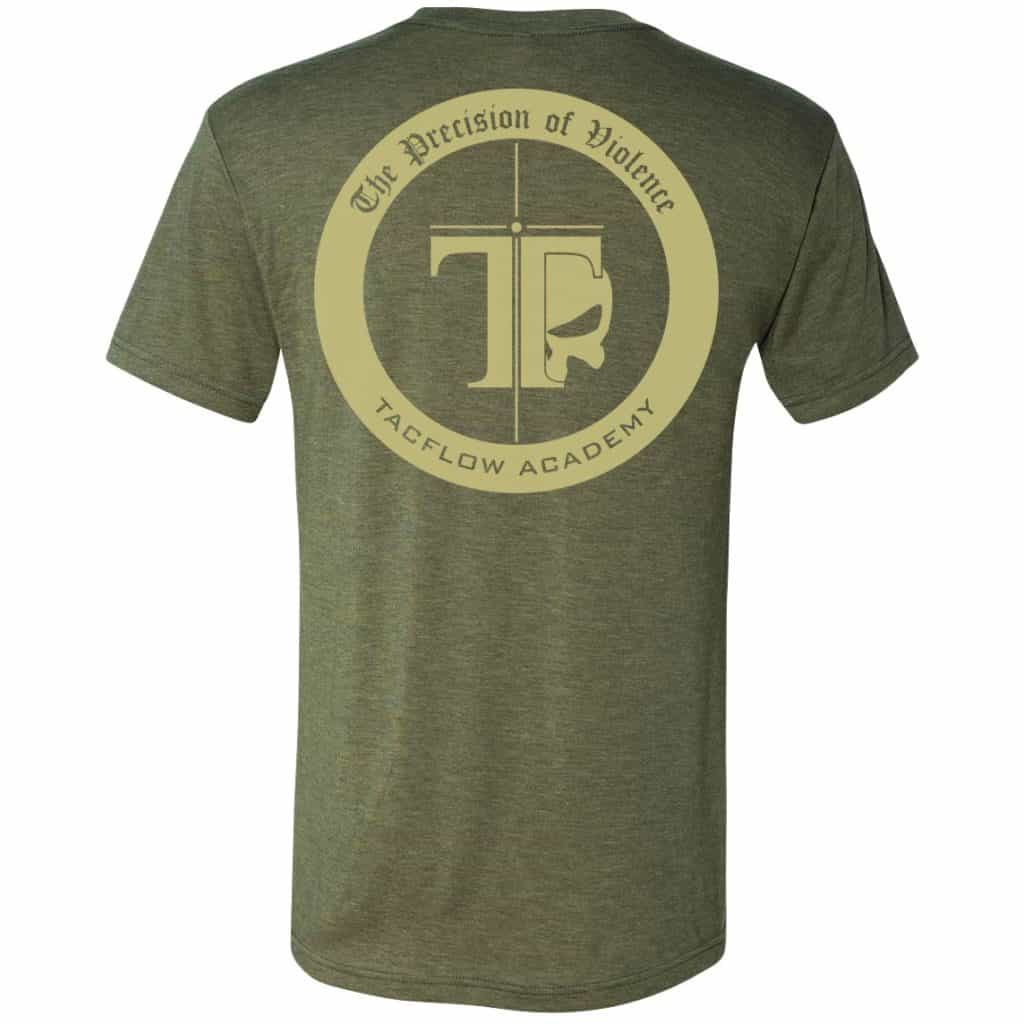 woodland green and tan tacflow tee