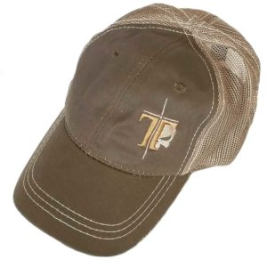 brown shooters cap- subdued Tacflow embroidered logo