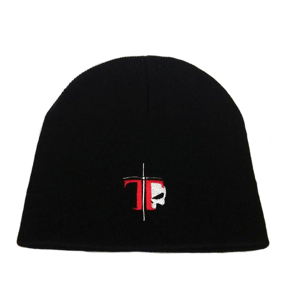 Black Beanie with Red T - TACFLOW Academy 55385a0e4f6e