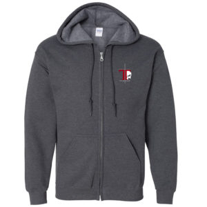 front of the Tacflow Precision of Violence dark grey hoodie