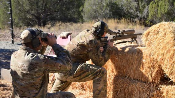 Sniper and Spotter at the last Sniperfest Training and Competition